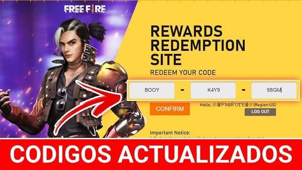 codigos de free fire