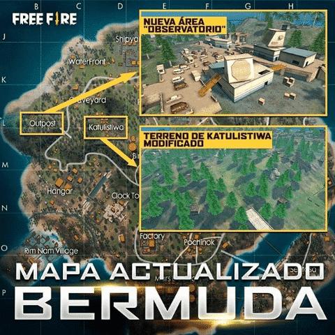 mapa de bermuda de free fire