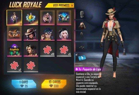 Clu en la Luck Royale