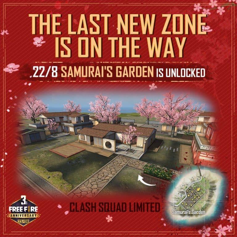 Samurai's Garden de Free Fire