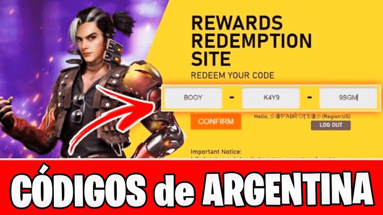 Códigos de Free Fire Argentina