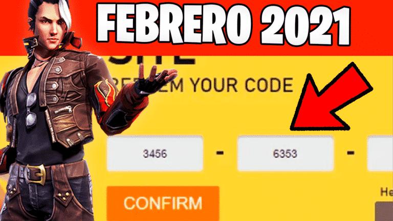 codigos de free fire febrero 2021