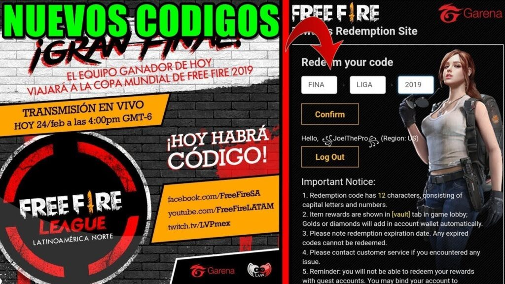 CÓDIGOS DE FREE FIRE